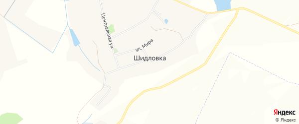 Карта села Шидловки в Белгородской области с улицами и номерами домов