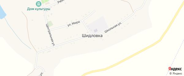 Нижняя улица на карте села Шидловки с номерами домов