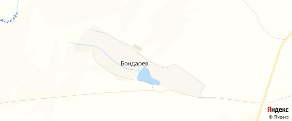 Карта хутора Бондарева в Белгородской области с улицами и номерами домов