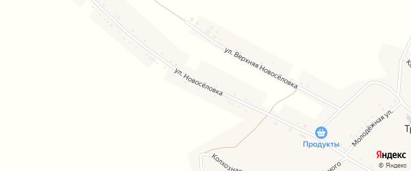 Улица Новоселовка на карте села Тростенец с номерами домов