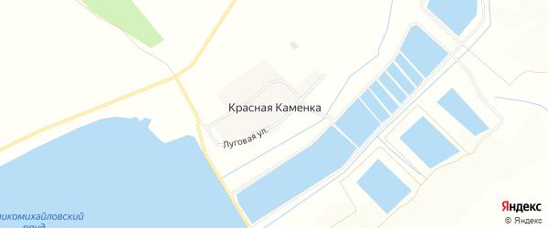 Карта хутора Красной Каменки в Белгородской области с улицами и номерами домов