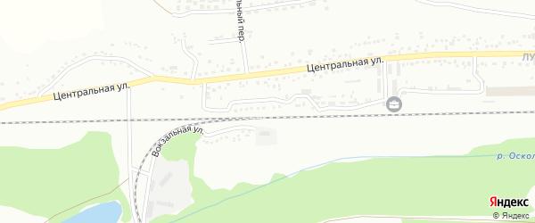 Вокзальная улица на карте Губкина с номерами домов