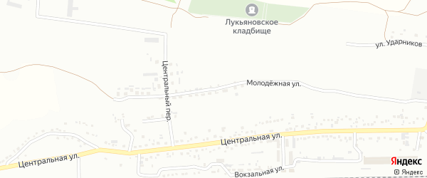Молодежная улица на карте Губкина с номерами домов