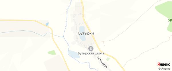 Карта села Бутырки в Белгородской области с улицами и номерами домов