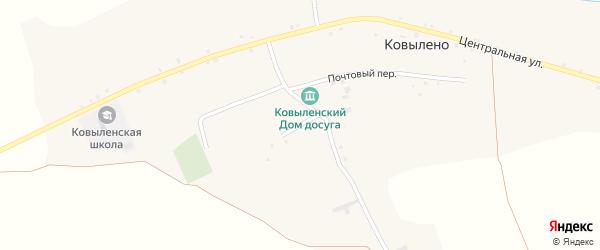 Мирный переулок на карте села Ковылено с номерами домов