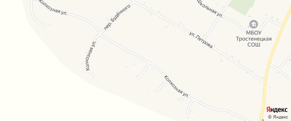 Колхозная улица на карте села Тростенец с номерами домов