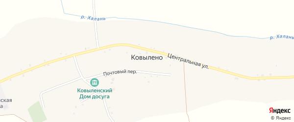 Улица Имени Новикова Р.А. на карте села Ковылено с номерами домов