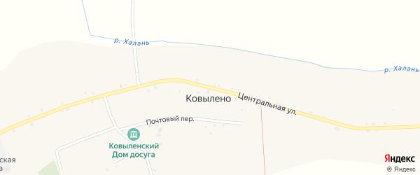 Центральная улица на карте села Ковылено с номерами домов