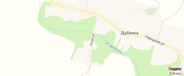 Тихая улица на карте села Дубянки с номерами домов