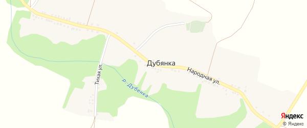 Народная улица на карте села Дубянки с номерами домов
