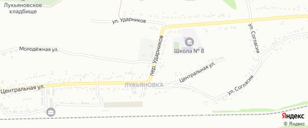 Переулок Ударников на карте Губкина с номерами домов