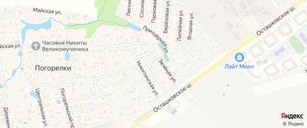 Поперечная 3-я улица на карте садового некоммерческого товарищества Виктории с номерами домов