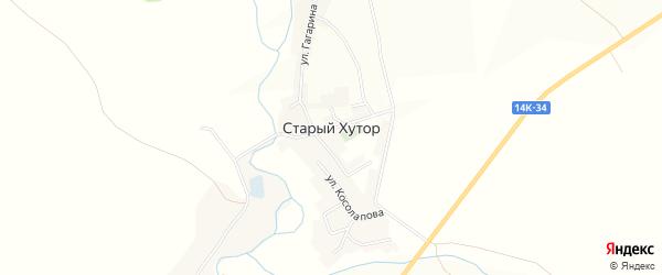 Карта села Старого Хутора в Белгородской области с улицами и номерами домов