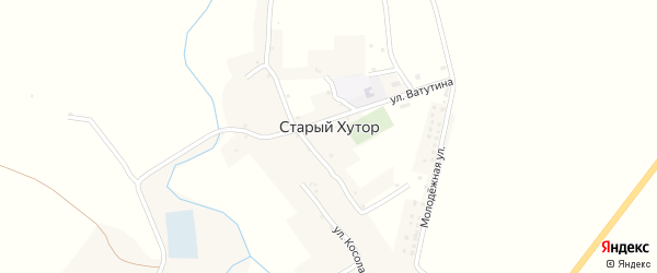Улица Ватутина на карте села Старого Хутора с номерами домов