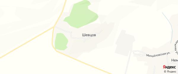Карта хутора Шевцова в Белгородской области с улицами и номерами домов