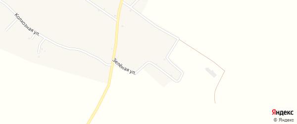 Зеленая улица на карте села Тростенец с номерами домов