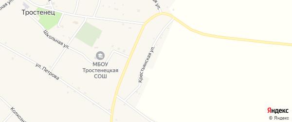 Крестьянская улица на карте села Тростенец с номерами домов