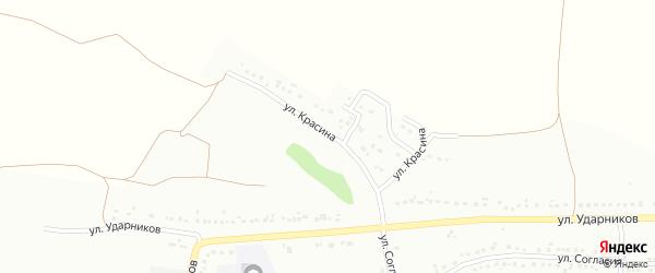 Улица Красина на карте Губкина с номерами домов