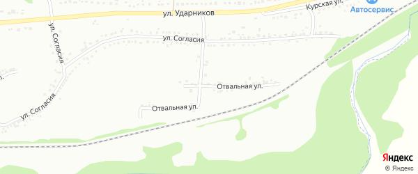 Отвальная улица на карте Губкина с номерами домов
