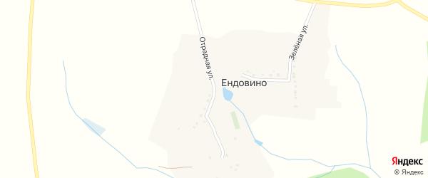 Отрадная улица на карте хутора Ендовино с номерами домов