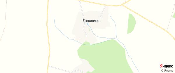 Карта хутора Ендовино в Белгородской области с улицами и номерами домов