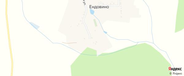 Колхозный переулок на карте хутора Ендовино с номерами домов
