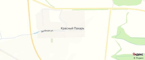 Карта поселка Красного Пахаря в Белгородской области с улицами и номерами домов