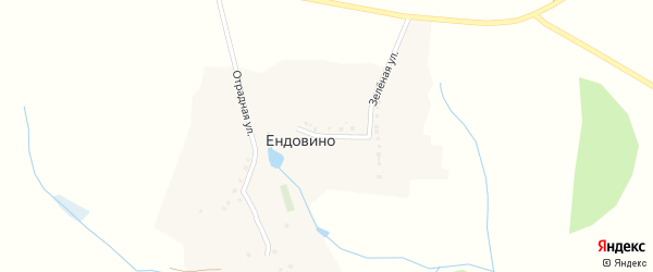 Зеленая улица на карте хутора Ендовино с номерами домов