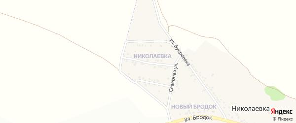 2-й Северный переулок на карте села Николаевка (Песчанский с/о) с номерами домов