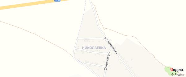 1-й Северный переулок на карте села Николаевка (Песчанский с/о) с номерами домов