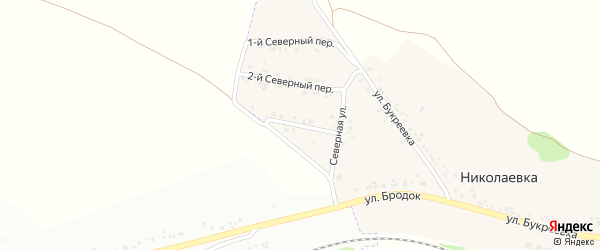 3-й Северный переулок на карте села Николаевка (Песчанский с/о) с номерами домов
