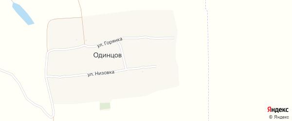 Улица Низовка на карте хутора Одинцова с номерами домов