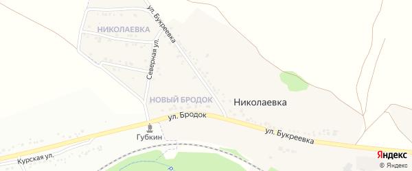 Улица Букреевка на карте села Николаевка (Песчанский с/о) с номерами домов