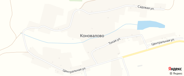 Садовая улица на карте села Коновалово с номерами домов