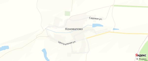 Карта села Коновалово в Белгородской области с улицами и номерами домов