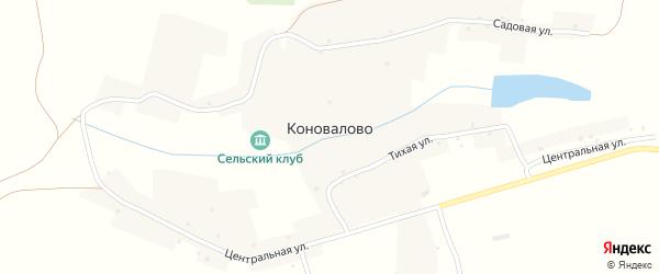Центральная улица на карте села Коновалово с номерами домов