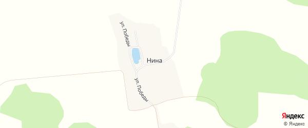Карта хутора Ниы в Белгородской области с улицами и номерами домов