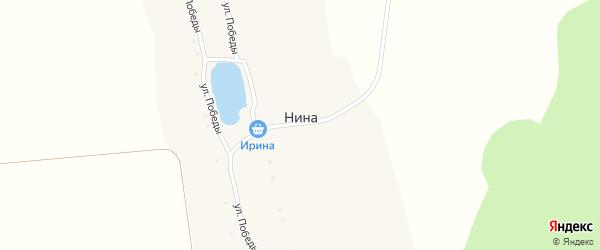 Улица Победы на карте хутора Ниы с номерами домов