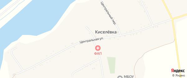 Центральная улица на карте села Киселевки с номерами домов
