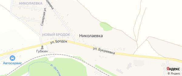 Садовая улица на карте села Николаевка (Казачанский с/о) с номерами домов