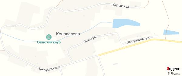 Тихая улица на карте села Коновалово с номерами домов