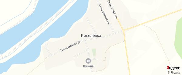 Карта села Киселевки в Белгородской области с улицами и номерами домов