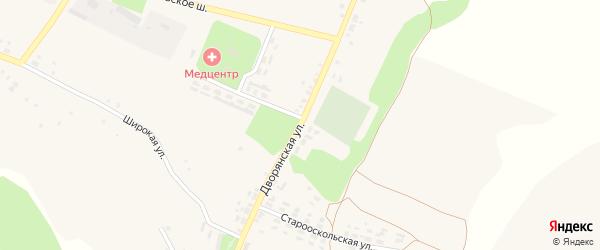 Дворянская улица на карте села Орлика с номерами домов