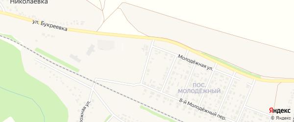 7-й Молодежный переулок на карте села Песчанки с номерами домов