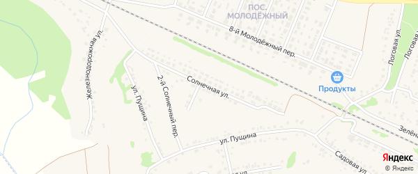 Солнечная улица на карте села Песчанки с номерами домов