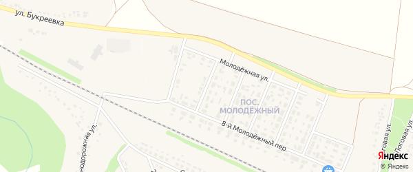 6-й Молодежный переулок на карте села Песчанки с номерами домов