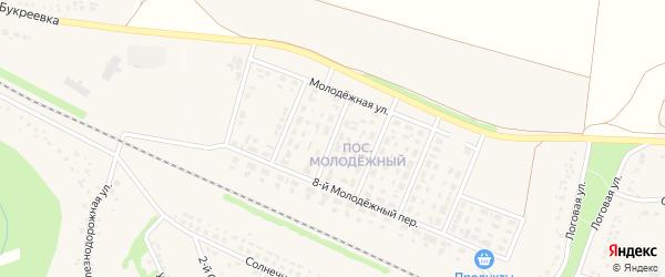 5-й Молодежный переулок на карте села Песчанки с номерами домов