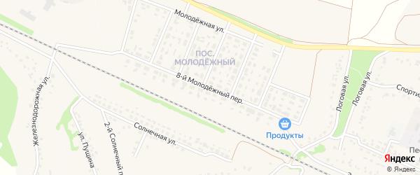 8-й Молодежный переулок на карте села Песчанки с номерами домов