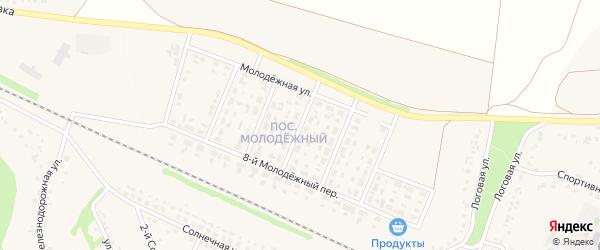 4-й Молодежный переулок на карте села Песчанки с номерами домов