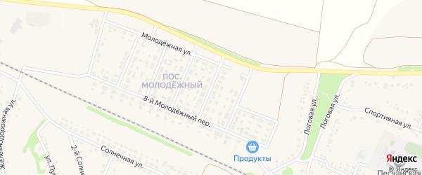 3-й Молодежный переулок на карте села Песчанки с номерами домов
